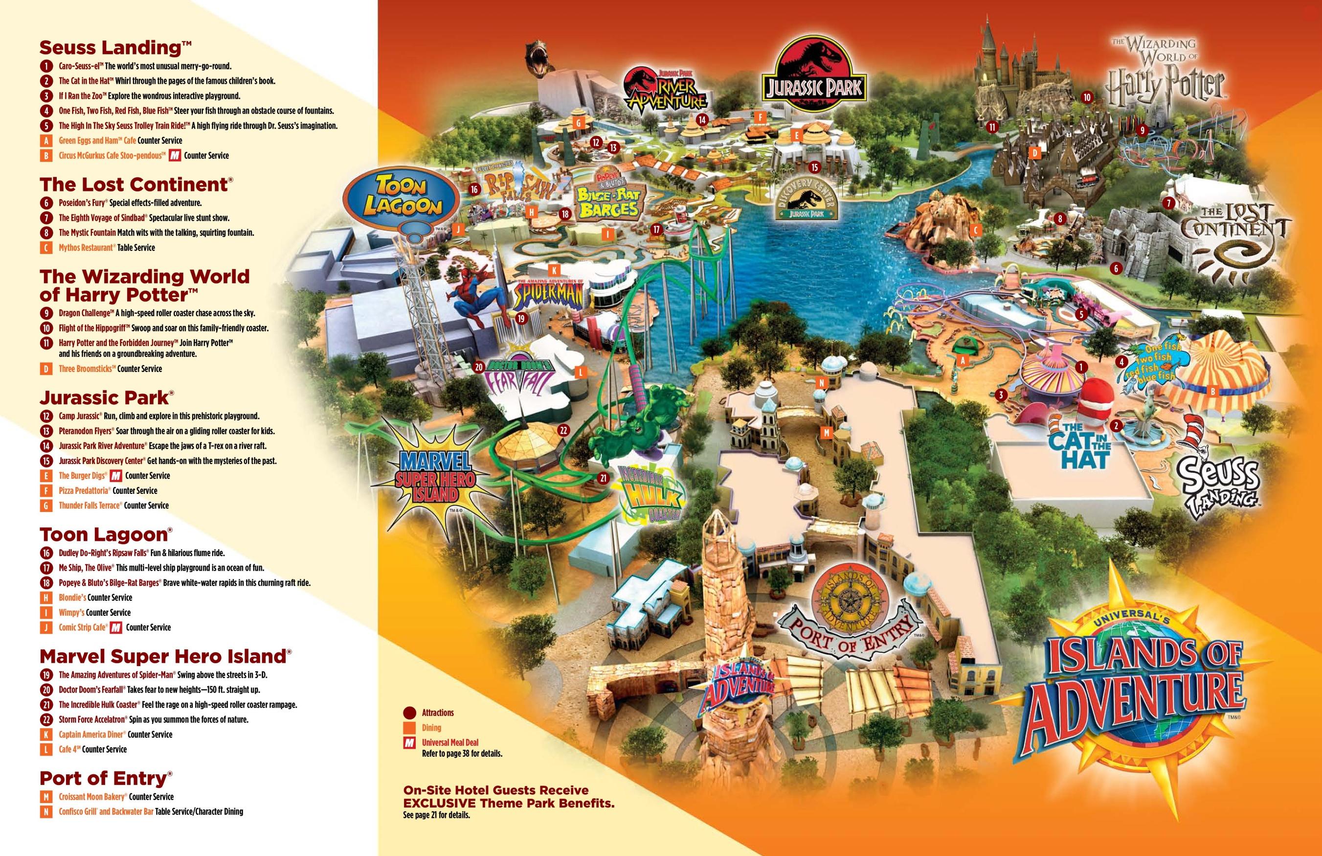 Adventure Island Orlando Map Orlando Islands of Adventure map