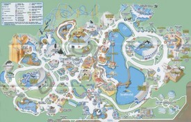 Orlando Seaworld map
