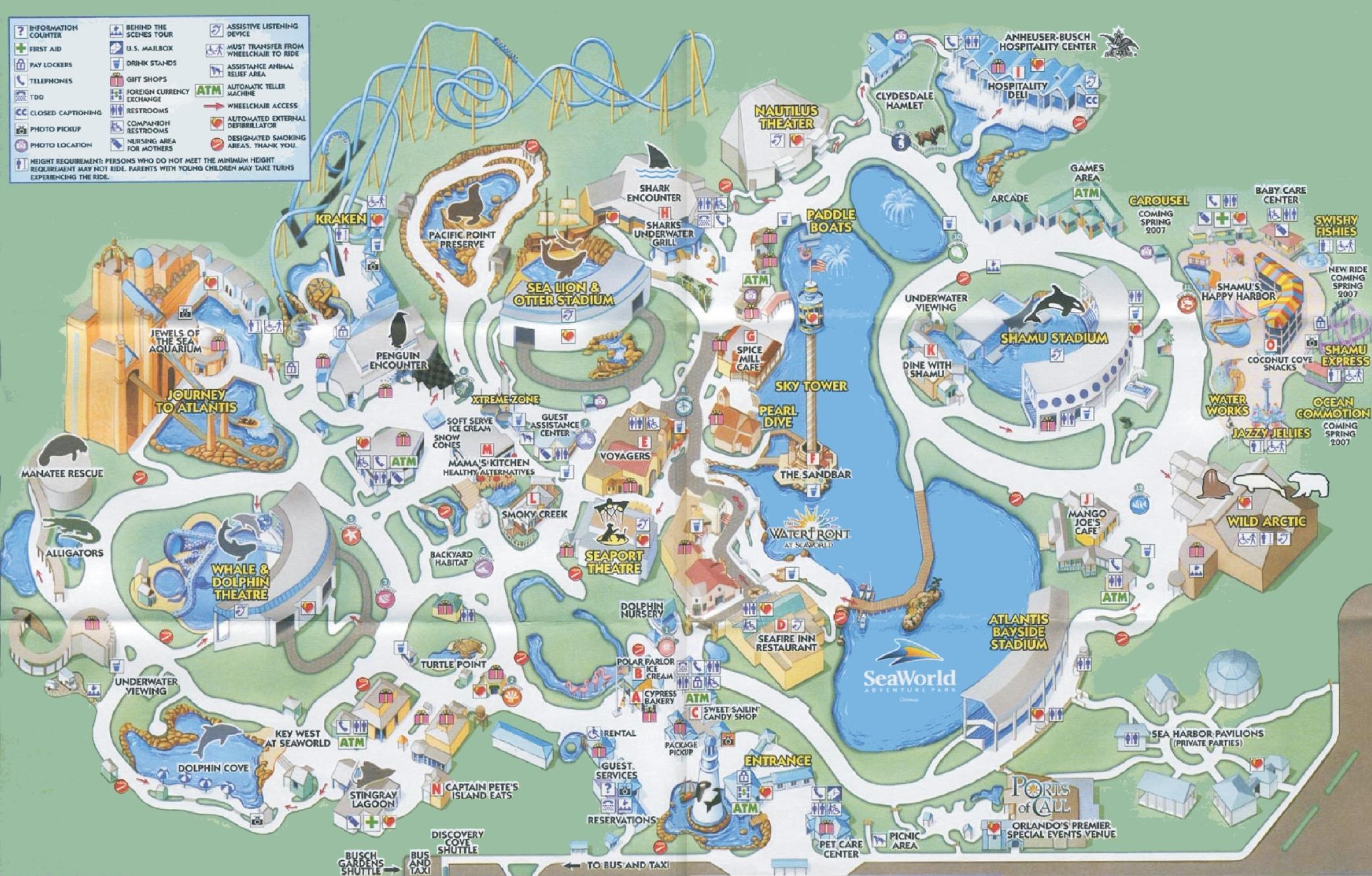 Sea World Map Orlando Seaworld map Sea World Map