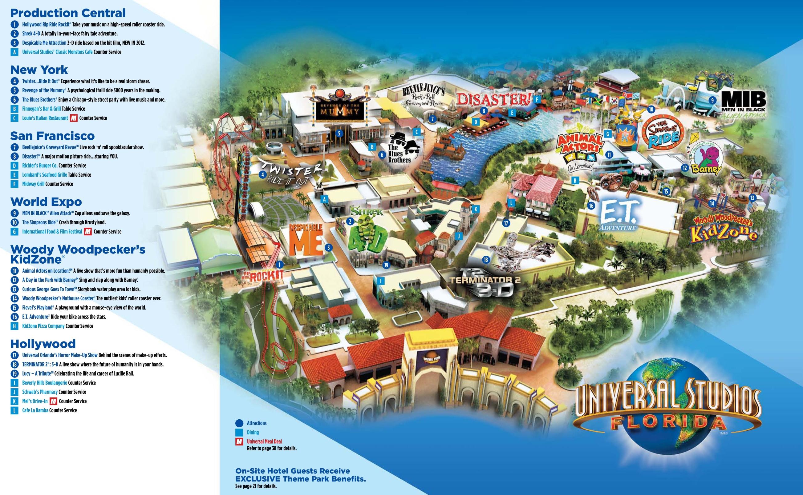 Universal Studios Florida Map Orlando Universal Studios Florida map