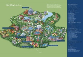 Orlando Walt Disney World Resort map
