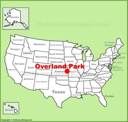 Overland Park Location Map