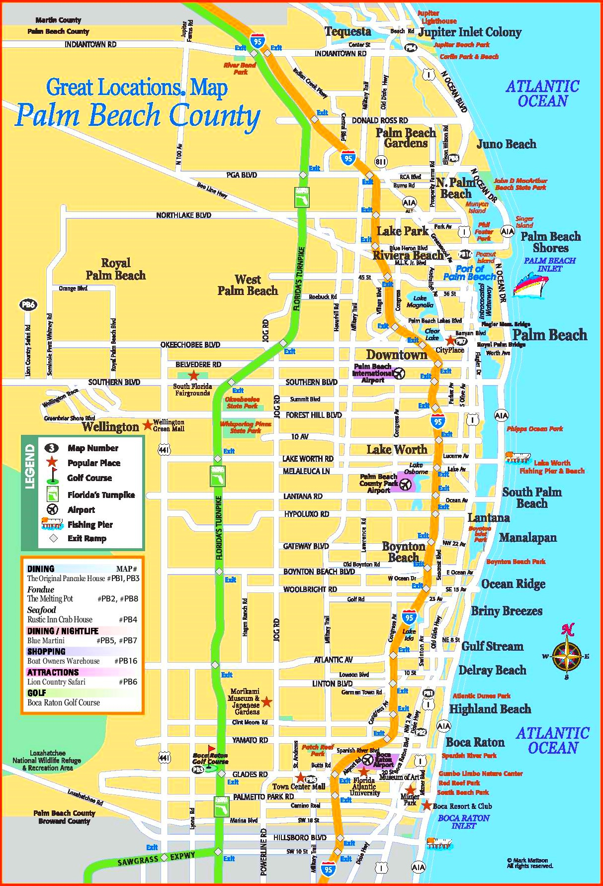 Map Of Palm Beach County Palm Beach county tourist map