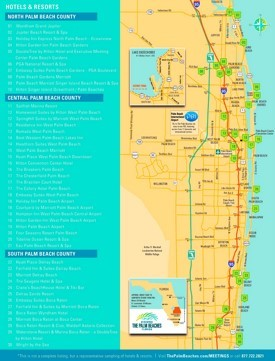 Palm Beach hotel map