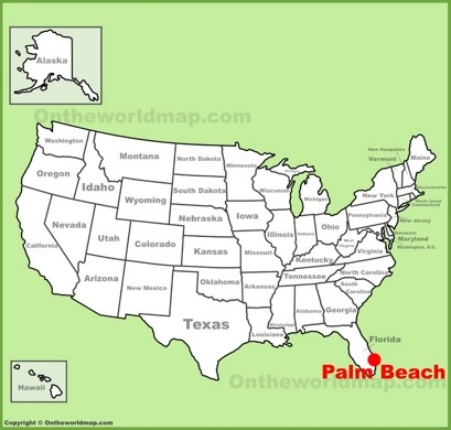 Palm Beach Location Map
