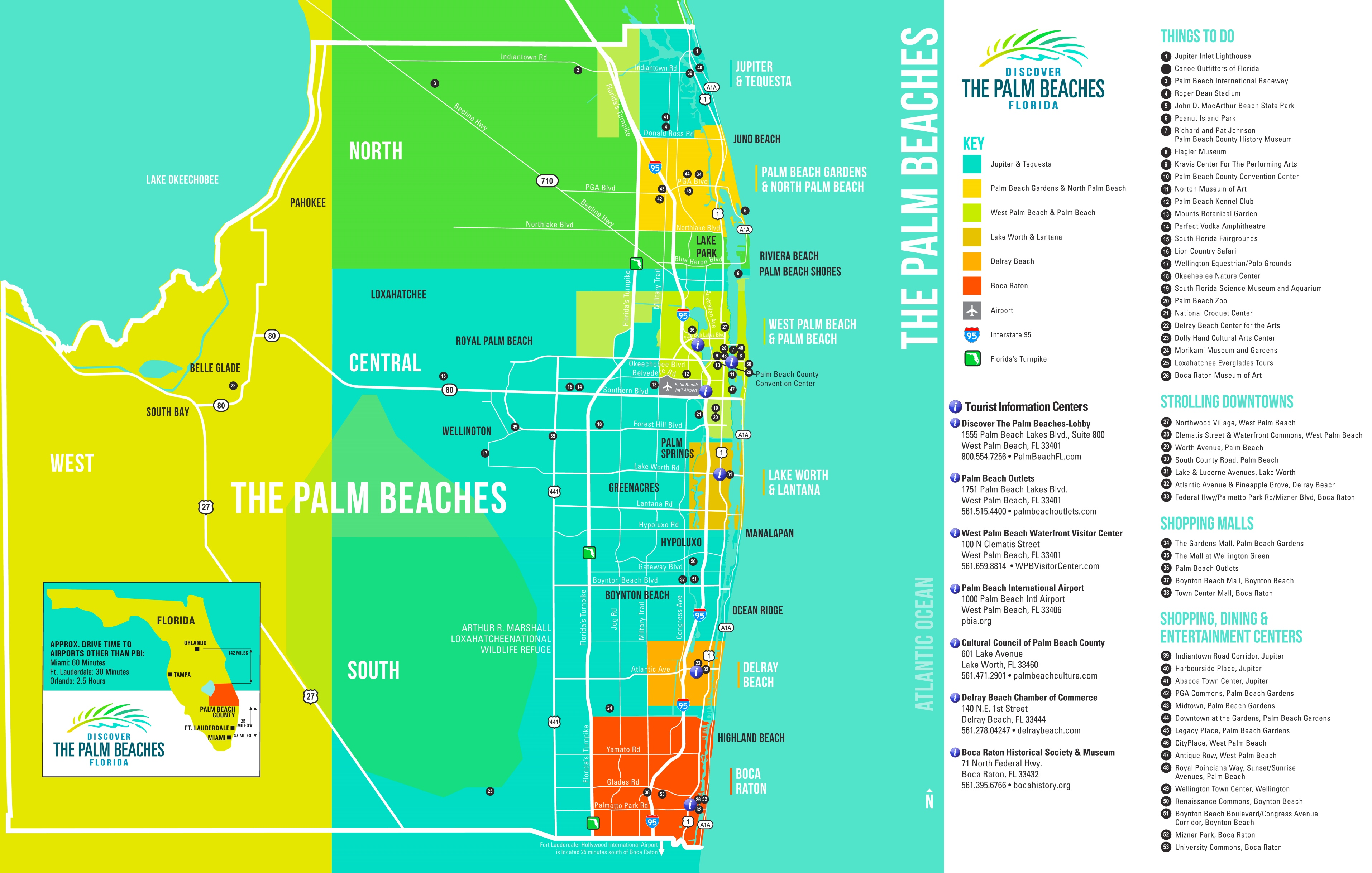 Palm Beach Tourist Attractions Map