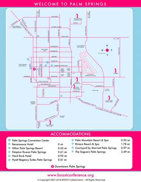 Palm Springs Hotel Map