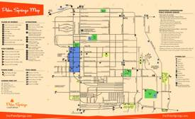 Palm Springs Tourist Map