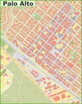 Palo Alto downtown map