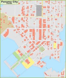 Panama City downtown map