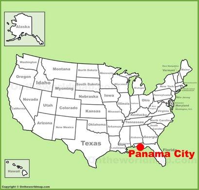 Panama City Location Map