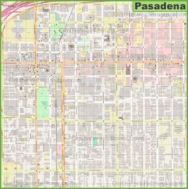 Pasadena downtown map