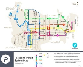Pasadena transport map