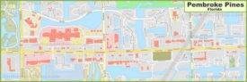 Pembroke Pines city center map