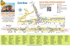 Pensacola Beach tourist map