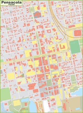 Pensacola Downtown Map