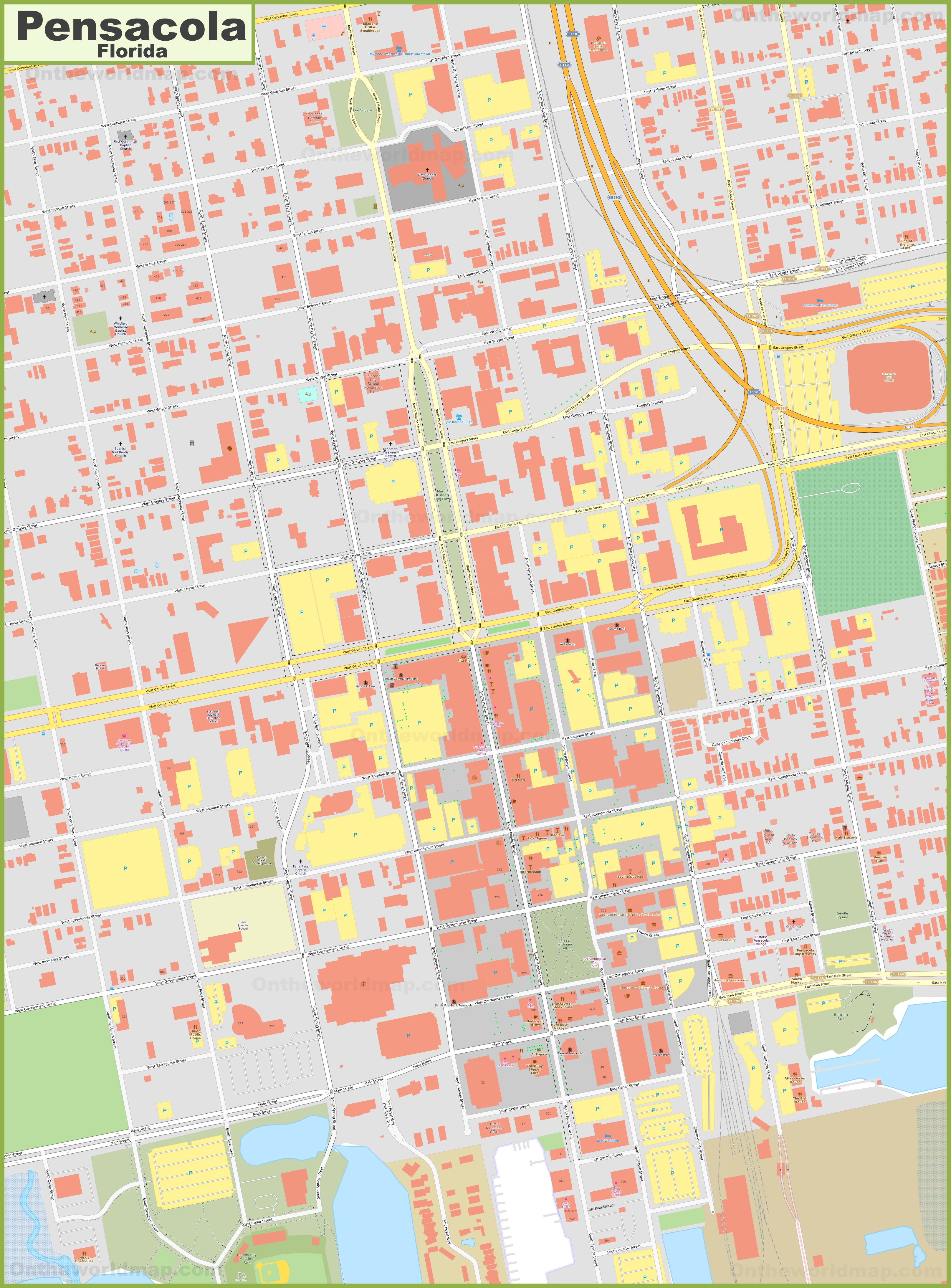 Pensacola Downtown Map on map of downtown little rock ar, tourist map of pensacola fl, map of downtown paterson nj, map of pensacola and destin florida, map of downtown roseville ca, google map of pensacola fl, map of downtown plano tx, map of beaches fl, map of downtown traverse city mi, airport pensacola fl, map of downtown redwood city ca, map of downtown rockville md, map of pensacola christian college, streets in pensacola fl, map of downtown las vegas nv, map of downtown palm springs ca, map of downtown new bern nc, map of downtown santa barbara ca, road map of pensacola fl, map of downtown new orleans la,
