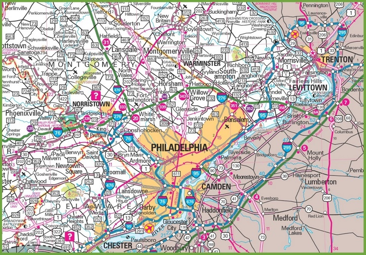 virginia highway map with Philadelphia Area Map on 1561472 further 14231911715 likewise Nv virginiacity furthermore Philadelphia Area Map as well NC Western Section.