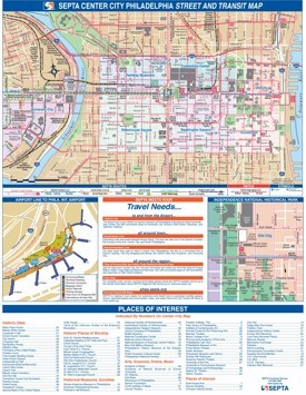 Philadelphia center city transport map