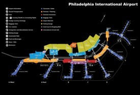 Philadelphia International Airport map