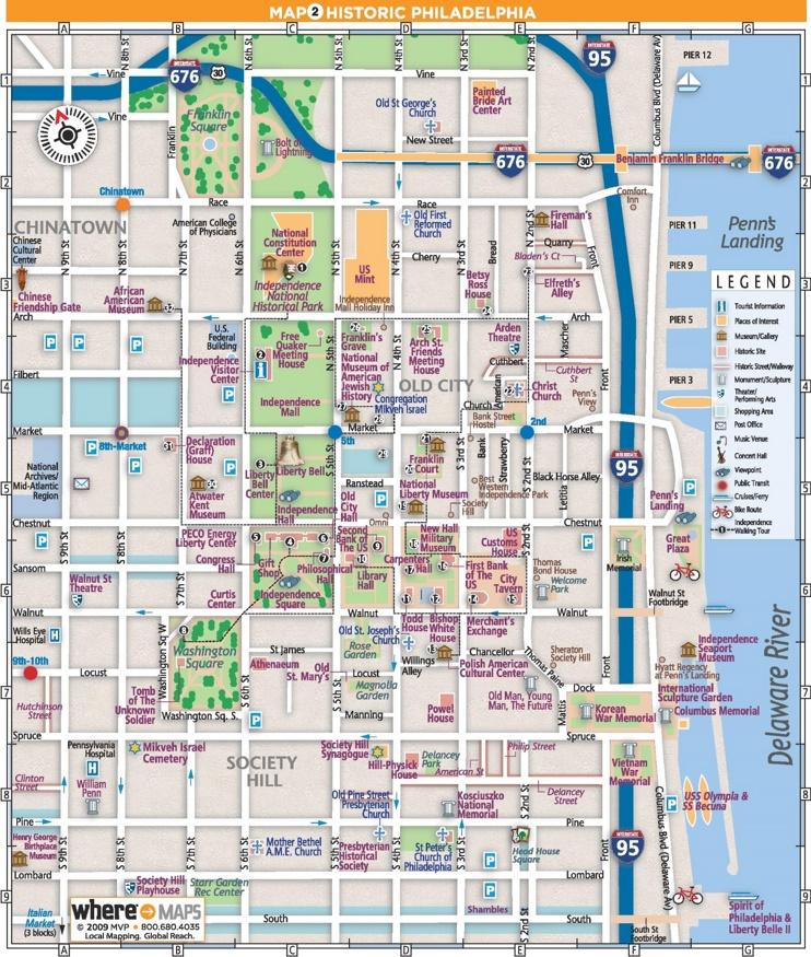 Philadelphia Old City Map