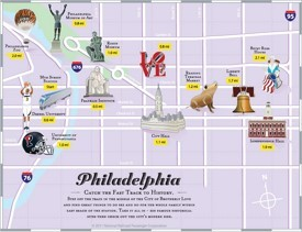 Philadelphia tourist attractions map