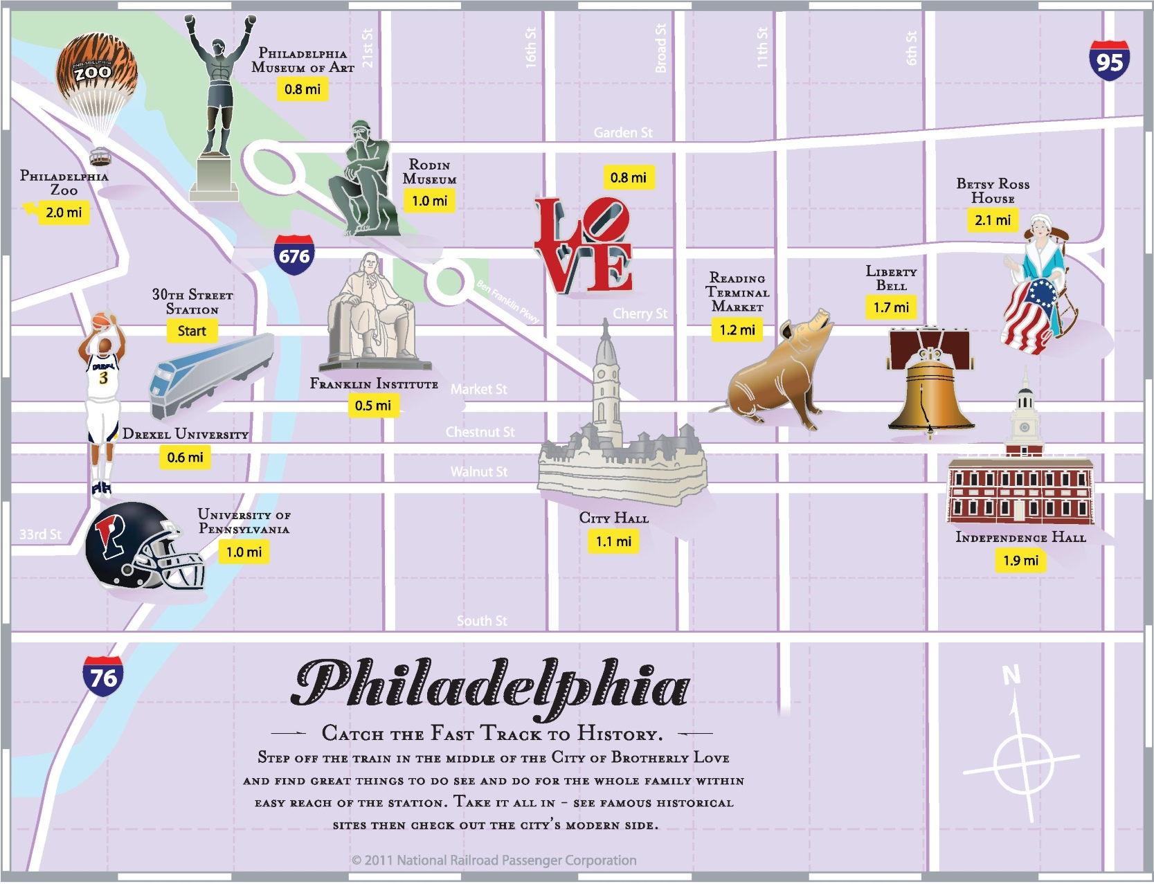 Philadelphia tourist attractions map – Virginia Tourist Attractions Map