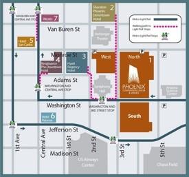 Downtown Phoenix hotel map