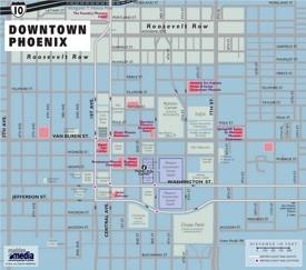 Downtown Phoenix map