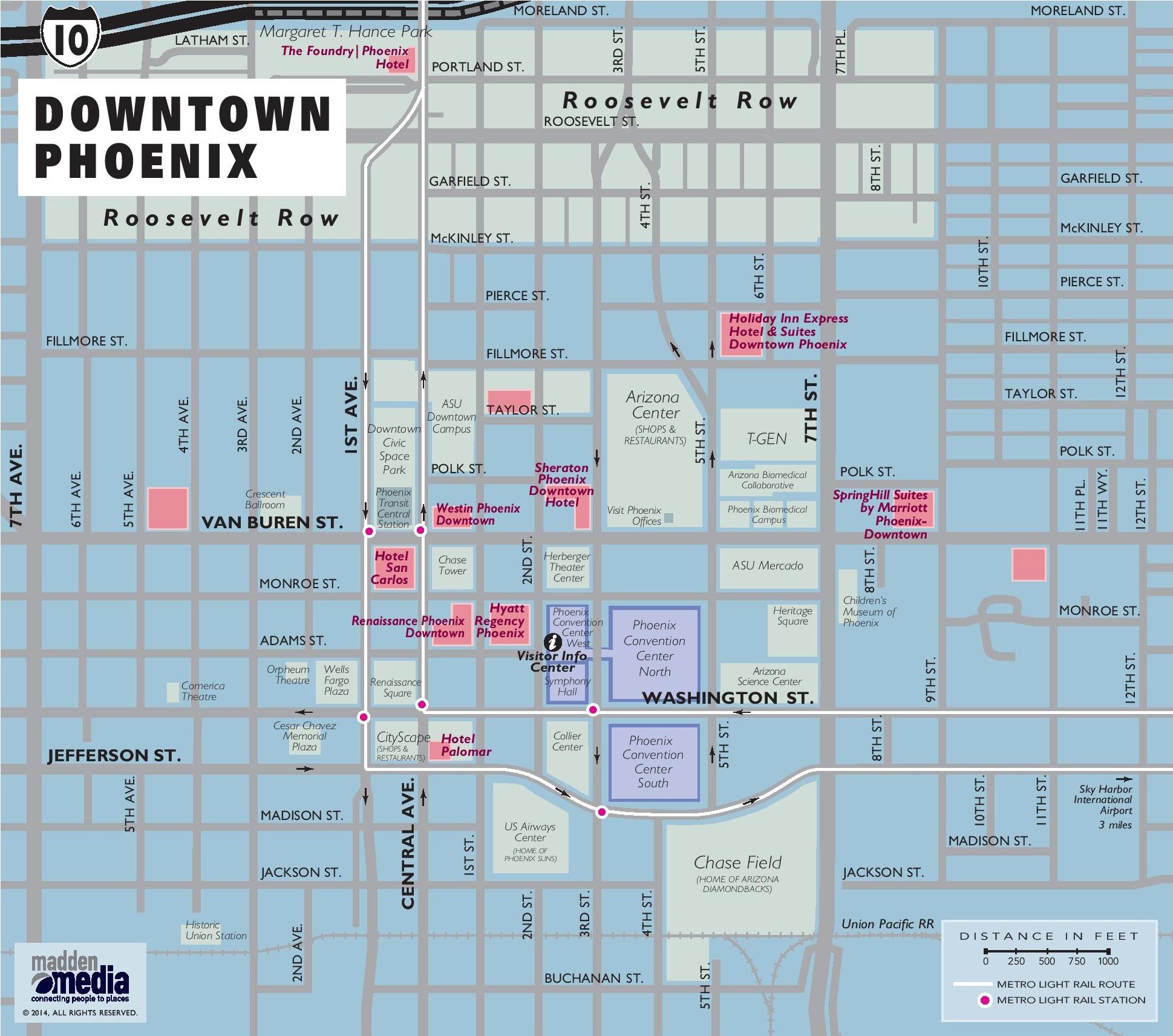 Map Of Downtown Phoenix Downtown Phoenix map Map Of Downtown Phoenix