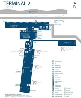 Phoenix airport terminal 2 map