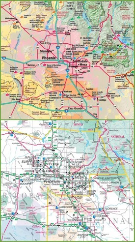 Phoenix Maps  Arizona US  Maps Of Phoenix