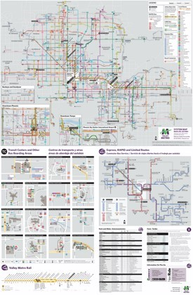 Phoenix metro transport map