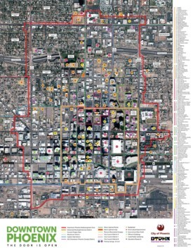 Phoenix tourist attractions map