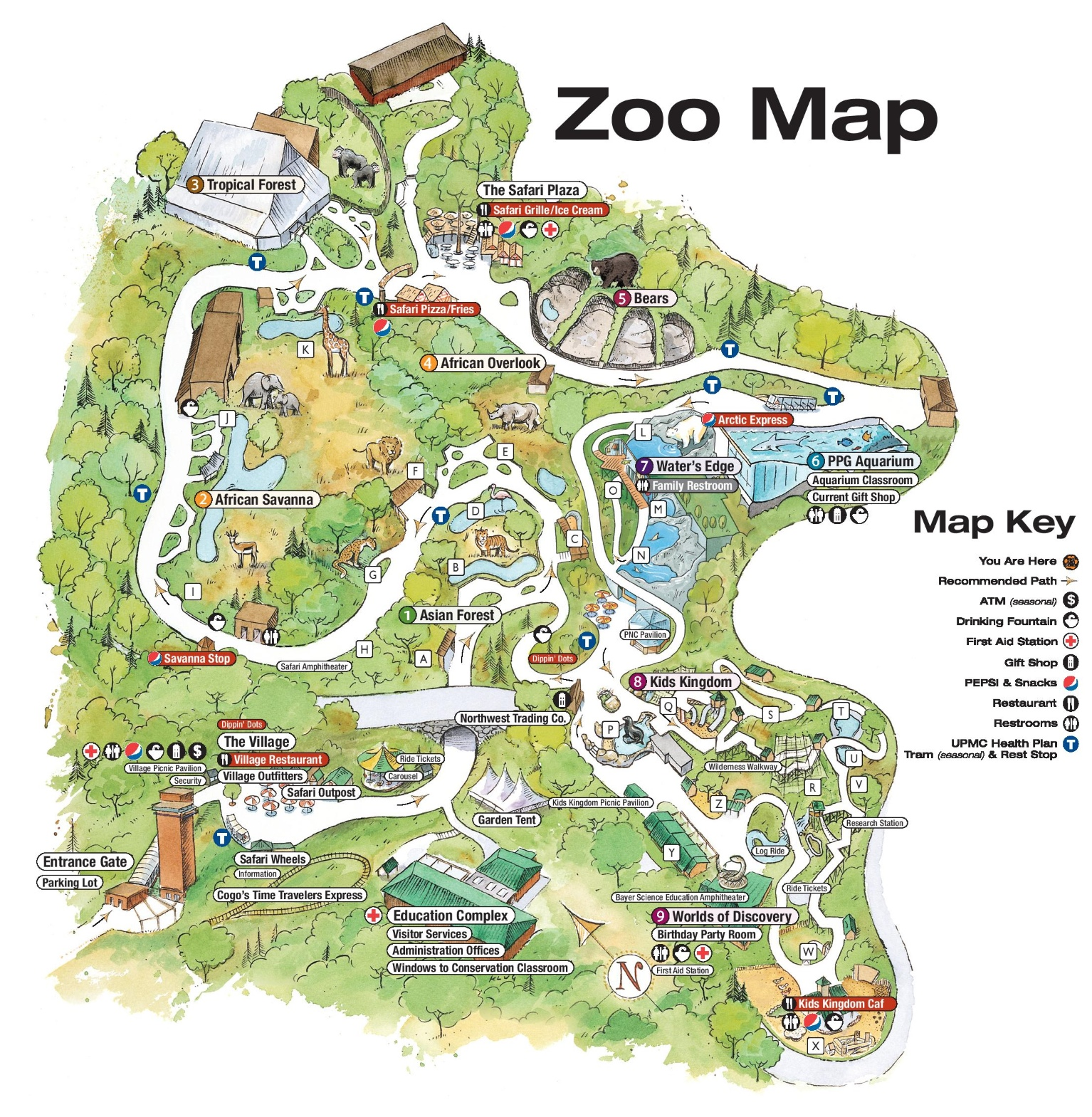 Pittsburgh Zoo Map Pittsburgh Zoo map Pittsburgh Zoo Map