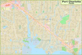 Large detailed map of Port Charlotte