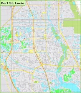 Large detailed map of Port St. Lucie