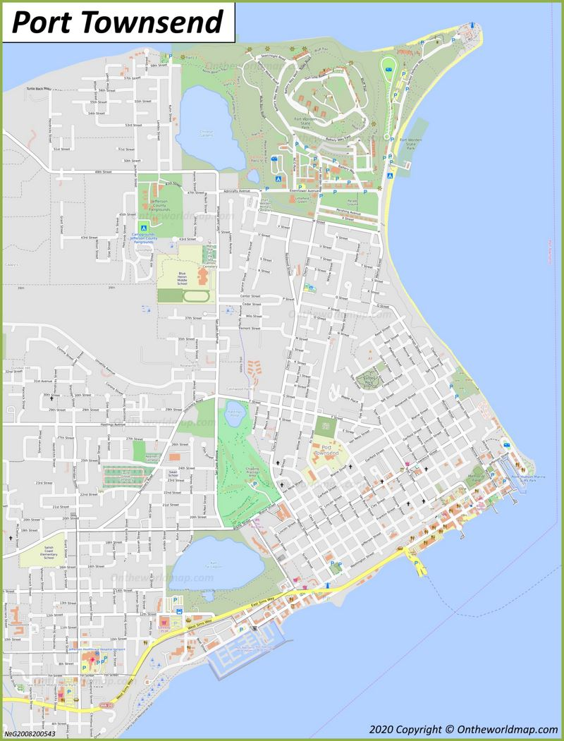 Map of Port Townsend