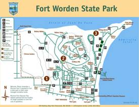Map of Fort Worden Historical State Park