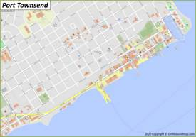 Port Townsend Downtown Map