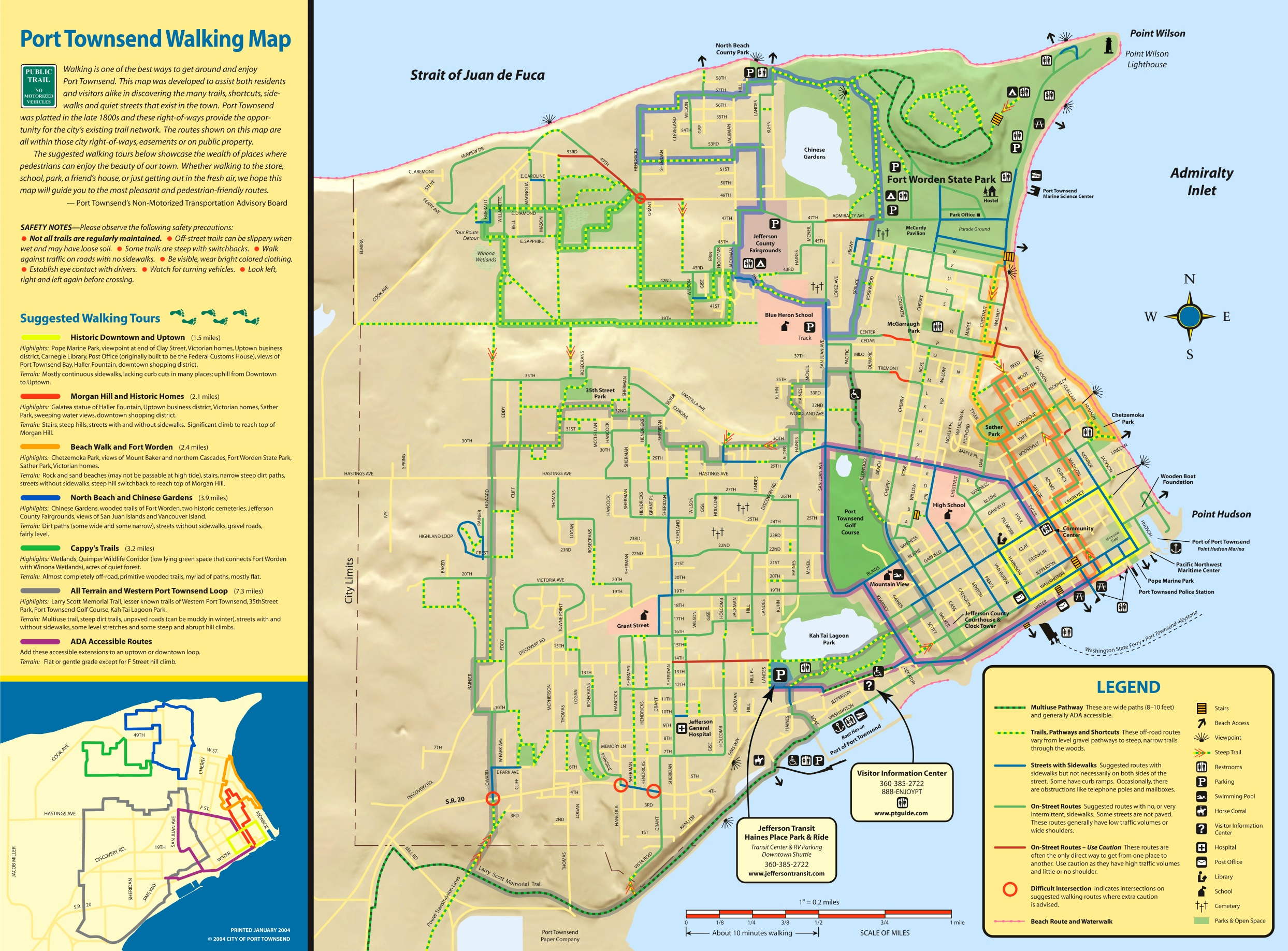 port townsend walking map