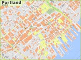 Portland Maps | Maine, U S  | Maps of Portland