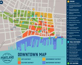 Portland sightseeing map