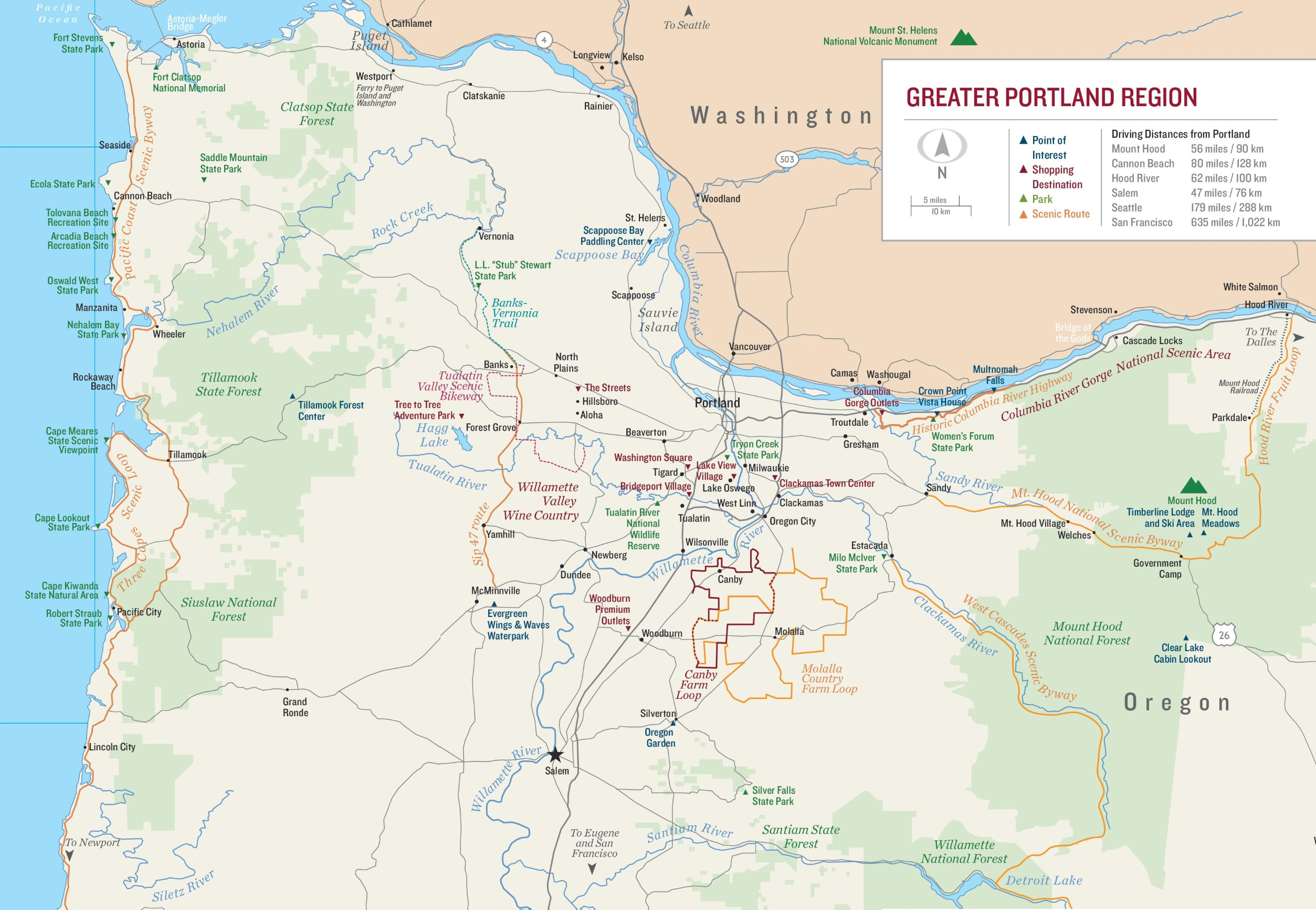 Greater Portland Map - Portland usa map