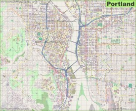 Portland Maps  Oregon US  Maps Of Portland