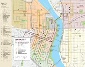 Portland hotel map