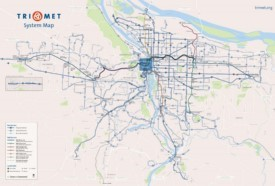Portland transport map