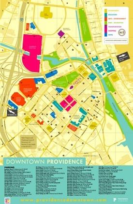 Providence tourist map