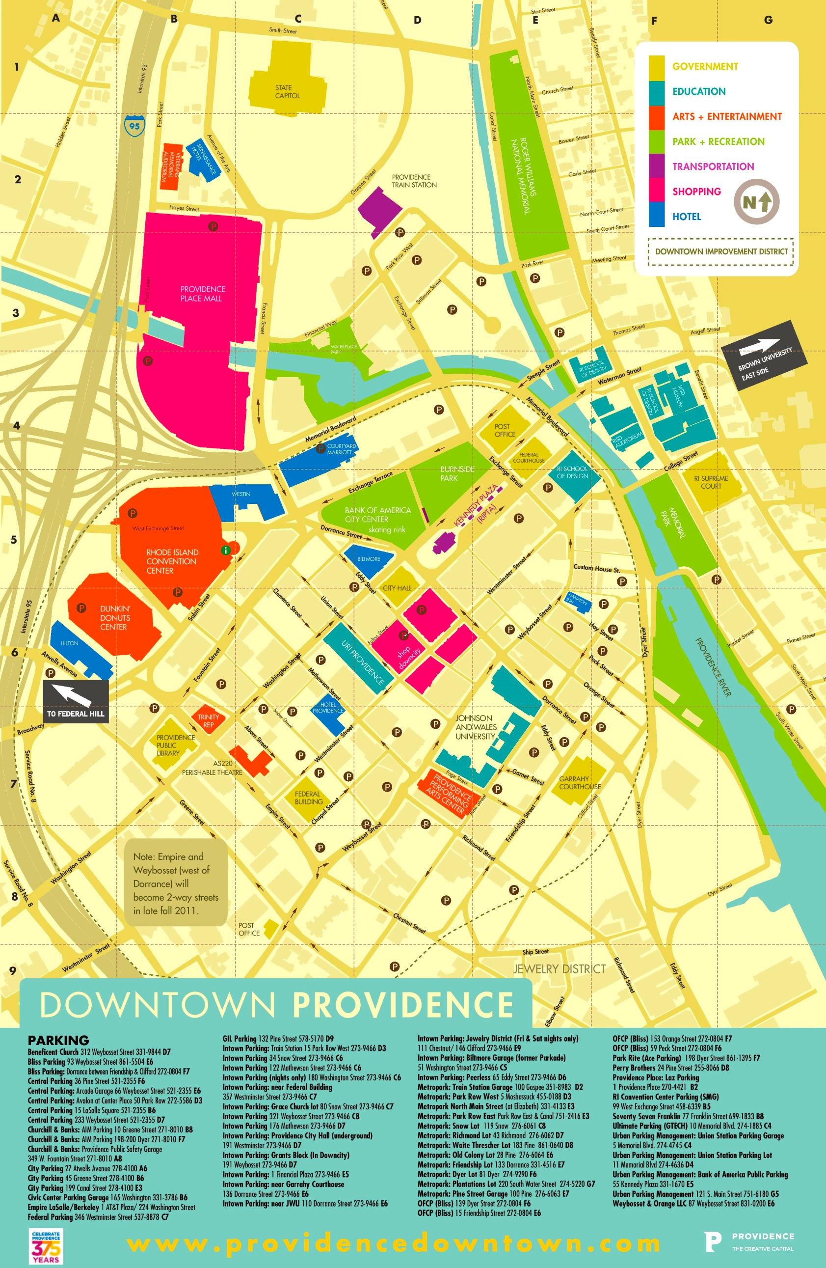 Providence tourist map