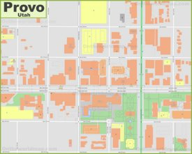 Provo downtown map